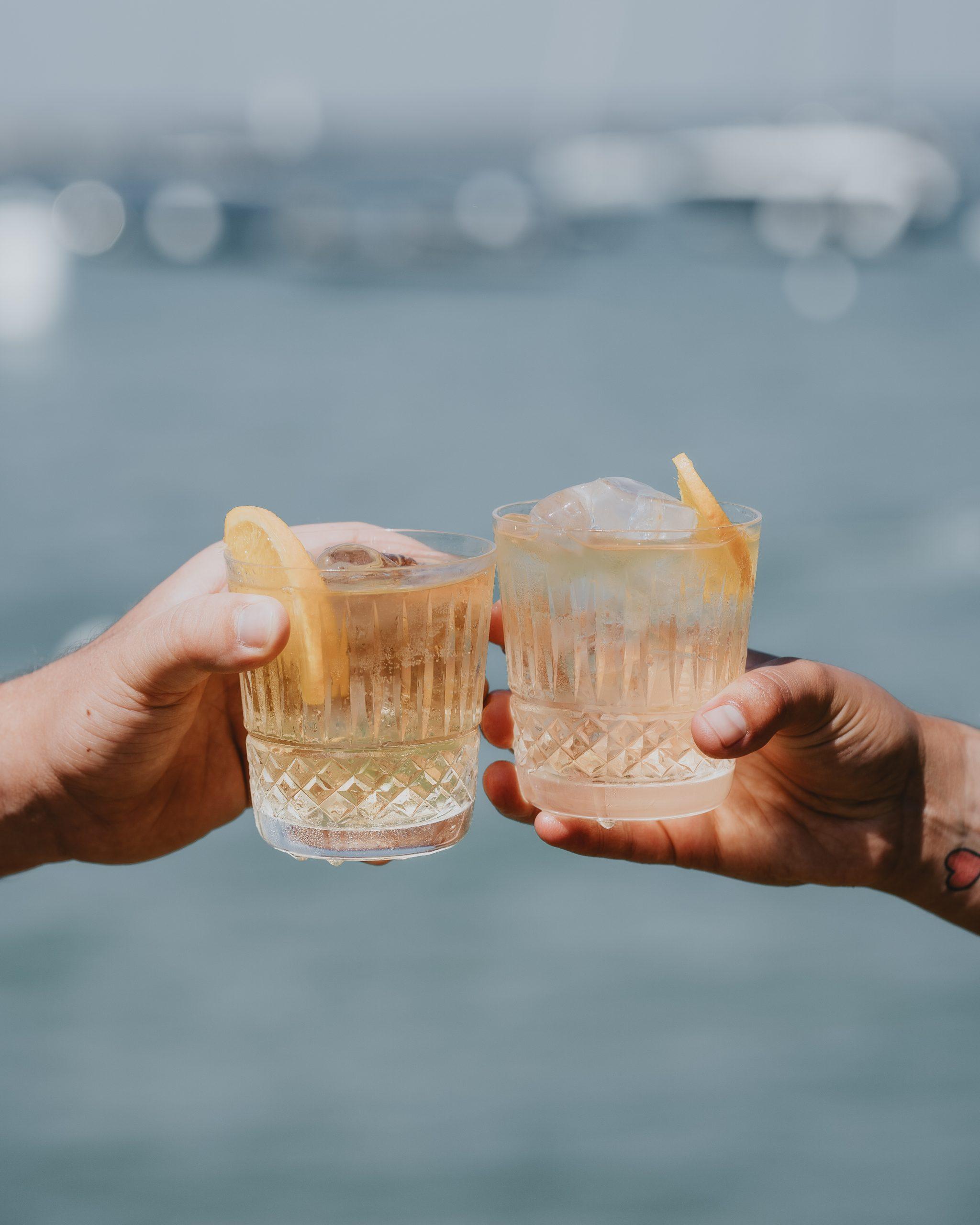 Enjoying rum together!