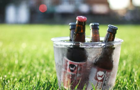 Beer in the park: a popular lockdown choice!