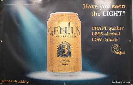 Genius Craft Lager at Low2NoBev